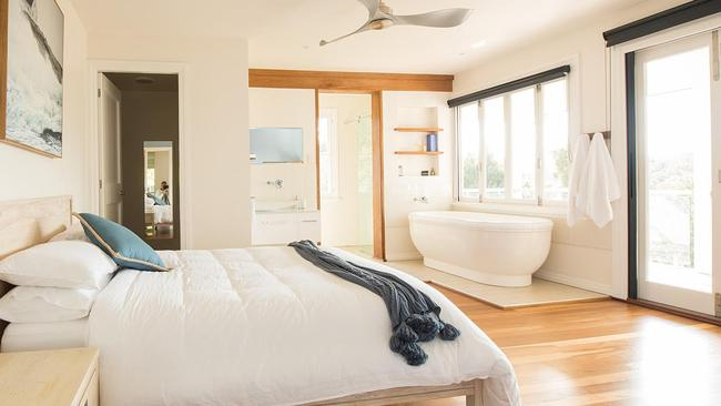 One of the bedrooms at the luxury getaway spot.
