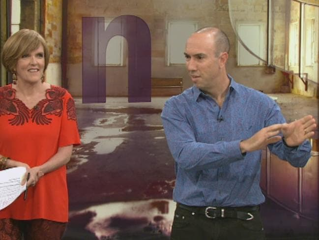 Pain expert Lorimer Moseley, pictured with Insight host Jenny Brockie said there is no such thing as a pain message.
