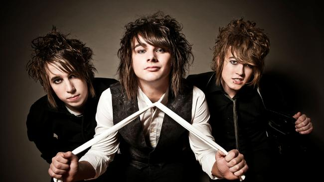 Frontman Shaun Diviney (centre) with Andy Clemmensen and Bradie Webb from Short Stack.