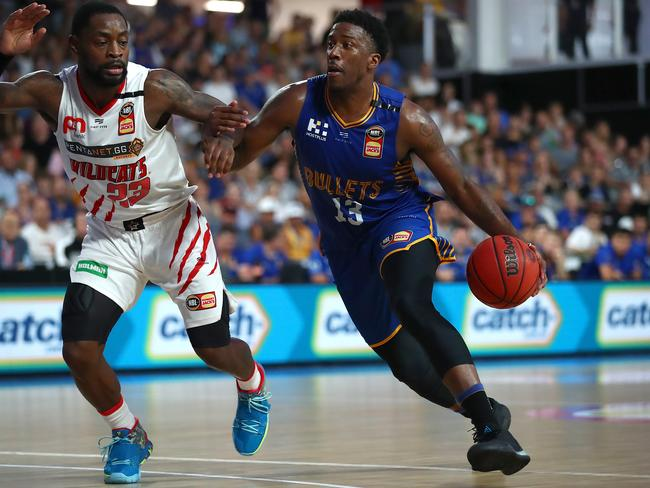 Brisbane star Lamar Patterson inspired the Bullets to victory over the Perth Wildcats at Nissan Arena. Picture: Jono Searle/Getty Images