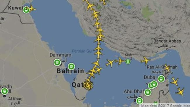Qatar crisis qatar airways still flying despite bahrain closing qatar airways planes are currently using one corridor through bahrains airspace to reach the gumiabroncs Image collections
