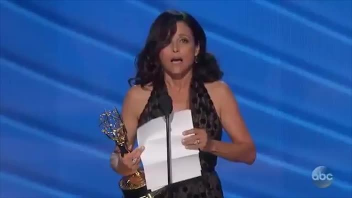 Julia Louis-Dreyfus dedicates her Emmys win to her father