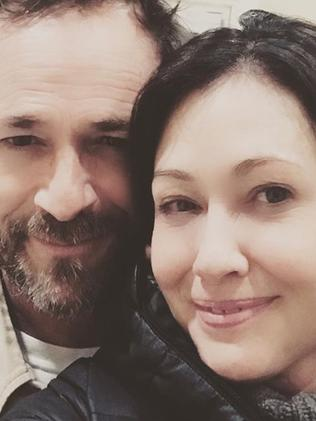 Shannen Doherty and Luke Perry. Picture: Supplied