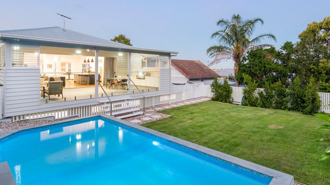 AFTER: The back of the house at 12 Wordsworth St, Bulimba, after the renovation.