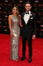 Jack Gunston of Hawthorn and Dani Shreeve at the 2016 Brownlow Medal Count.
