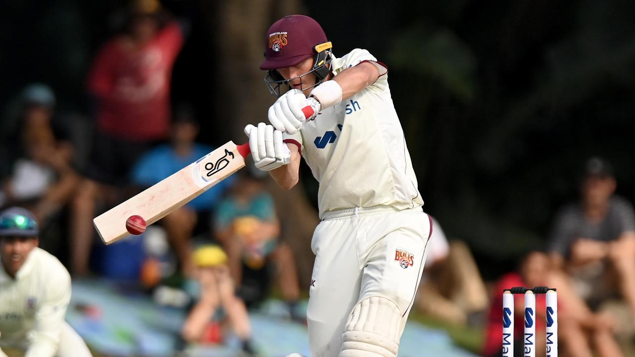 Marnus Labuschagne took the game away from NSW on day two at Allan Border Field in Brisbane, Australia. Photo: Getty Images