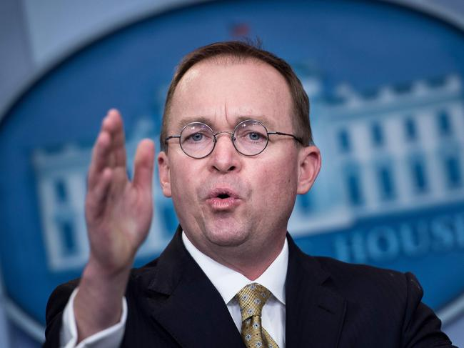 Mick Mulvaney, a blunt, fast-talking former South Carolina congressman turned budget chief had told President Trump months ago he wanted the job. Picture: AFP