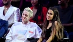Pete Davidson and Ariana Grande when they were dating in 2018. Image: Getty.