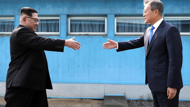 The inter-Korean summit led to a surge of optimism. Pic: AP