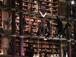 Models during FENTY PUMA by Rihanna Fall / Winter 2017 Collection at Bibliotheque Nationale de France on March 6, 2017 in Paris, France. Picture: AFP