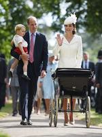 The christening was the first time the Cambridges had appeared as a family since the princess's birth on May 3. Picture: AFP