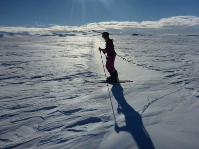 16-year-old Australian student reports live from Antarctica on her quest to complete the 'Polar hat-trick'