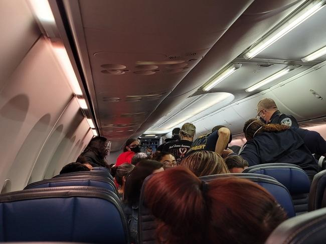 The man's conditioned deteriorated during the flight and paramedics boarded the plane when it landed, but he could not be saved. Picture: TMZ/Backgrid