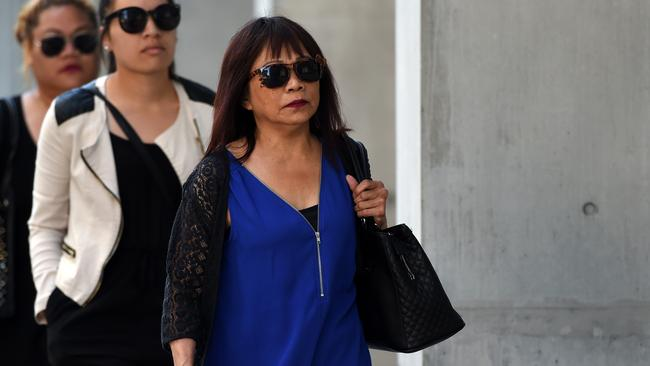 Merzabeth Tagpuno (right), the mother of New Zealand woman Warriena Wright, says the ordeal has been devastating for her family. Picture: Dan Peled/AAP