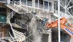 Demolition work is seen underway at Allianz Stadium in Sydney, Thursday, March 14, 2019. NSW Labor leader Michael Daley has written to NSW Premier Gladys Berejiklian calling for hard demolition works at Allianz Stadium to stop until the state election. (AAP Image/Dan Himbrechts) NO ARCHIVING