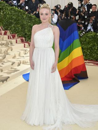 Dakota Fanning attends the 2018 Met Gala in New York City. Picture: AFP