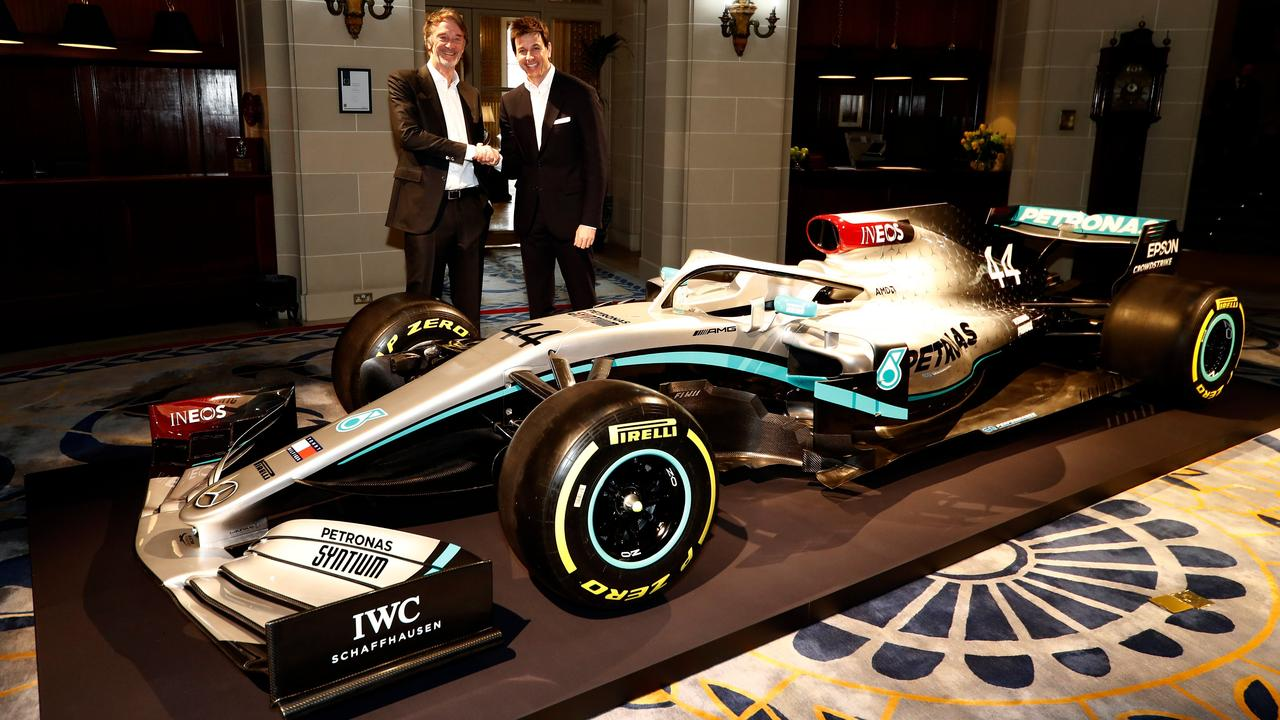 INEOS' Sir Jim Ratcliffe with Toto Wolff.
