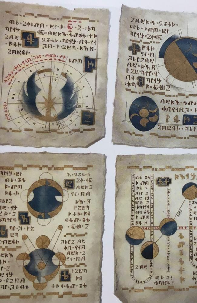 Prop pages from the holy books in Star Wars: The Last Jedi.