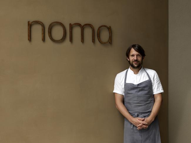 Noma's head chef Rene Redzepi standing outside the Sydney branch of his famous Copenhagen restaurant.