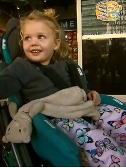 Hayley faces months of rehab. Picture: Nine News