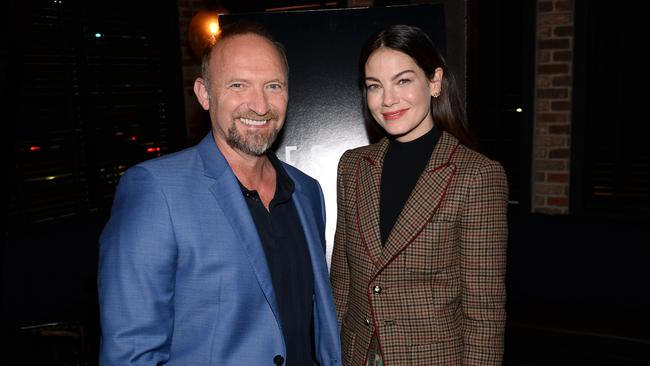 Michael Petroni with his lead actor Michelle Monaghan. Picture: Andrew Toth/Getty Images for Netflix