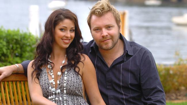 Kyle Sandilands with Tamara Jaber at their home in Sydney.