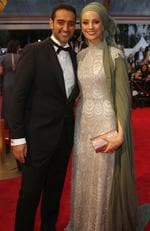 Waleed Aly and wife Susan Carland arrive at the 2018 Logie Awards at The Star Casino on the Gold Coast, Sunday, July 1, 2018. Picture: AAP Image/Regi Varghese