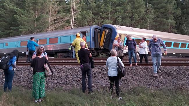 The driver of the late-running XPT train that derailed and saw two people killed had announced plans to make up time on the service. Picture: Dr Scott Rickard