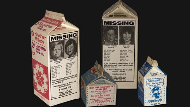 The Milk Carton Kids Program was one of the first programs launched to locate missing children. Source: Supplied