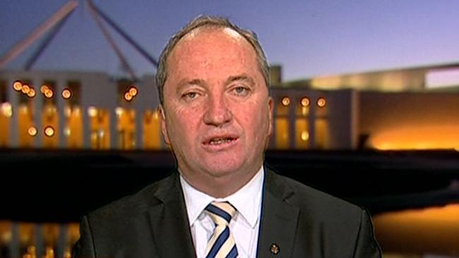 Barnaby Joyce defends comments on Indonesia