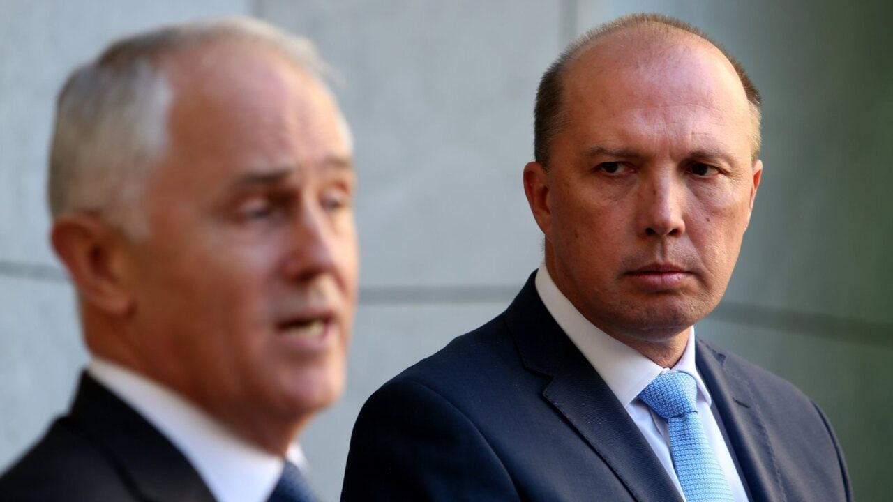 Malcolm Turnbull urges Liberal MPs to refer Peter Dutton to the High Court