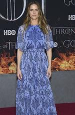 """Amanda Peet attends HBO's """"Game of Thrones"""" final season premiere at Radio City Music Hall on Wednesday, April 3, 2019, in New York. (Photo by Evan Agostini/Invision/AP)"""