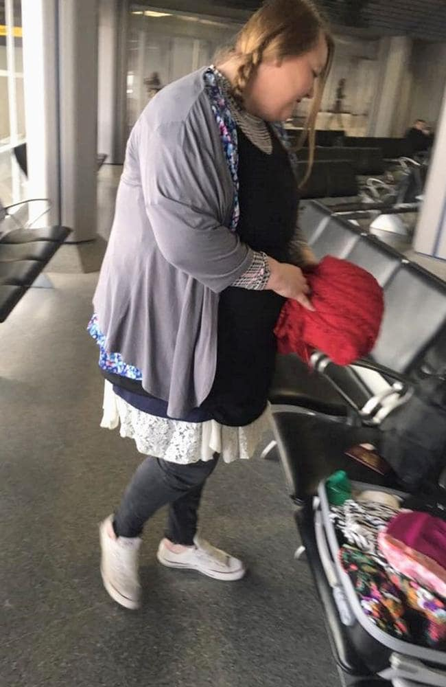 Ms Wynn found a last-minute way to get around the airline's baggage fees. Picture: Kennedy News
