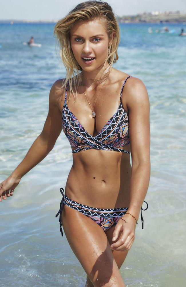 Along with her new ambassador role with Myer, Elyse Knowles is also the face of swimwear label, Seafolly.