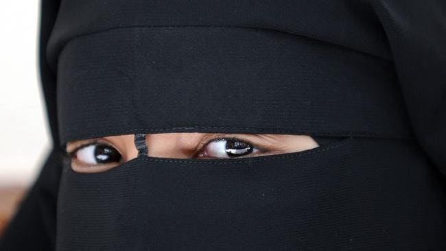 About face ... A Muslim woman wearing the niqab in Montreuil, outside Paris, France in 2010 as the French Constitutional Court condemned the full-face Islamic veil (niqab or burqa) in public areas.
