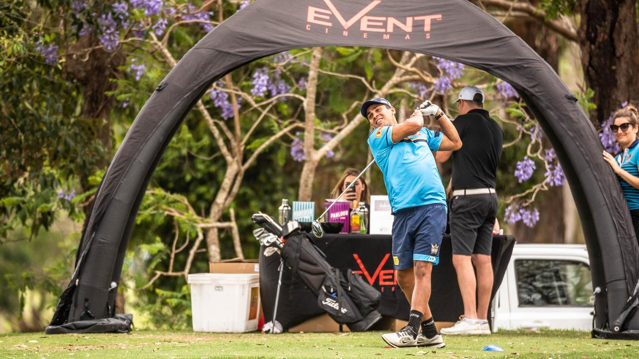 Tyrone Peachey at the Gold Coast Titans golf day at Parkwood International.