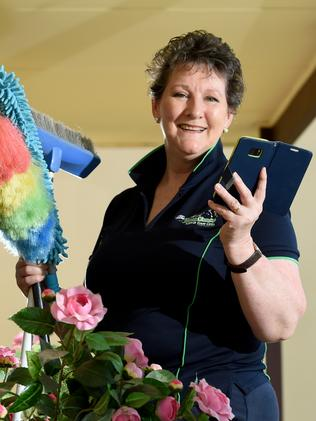 Louise Drummond of Personal Touch Home Cleaning. Photo Sam Wundke