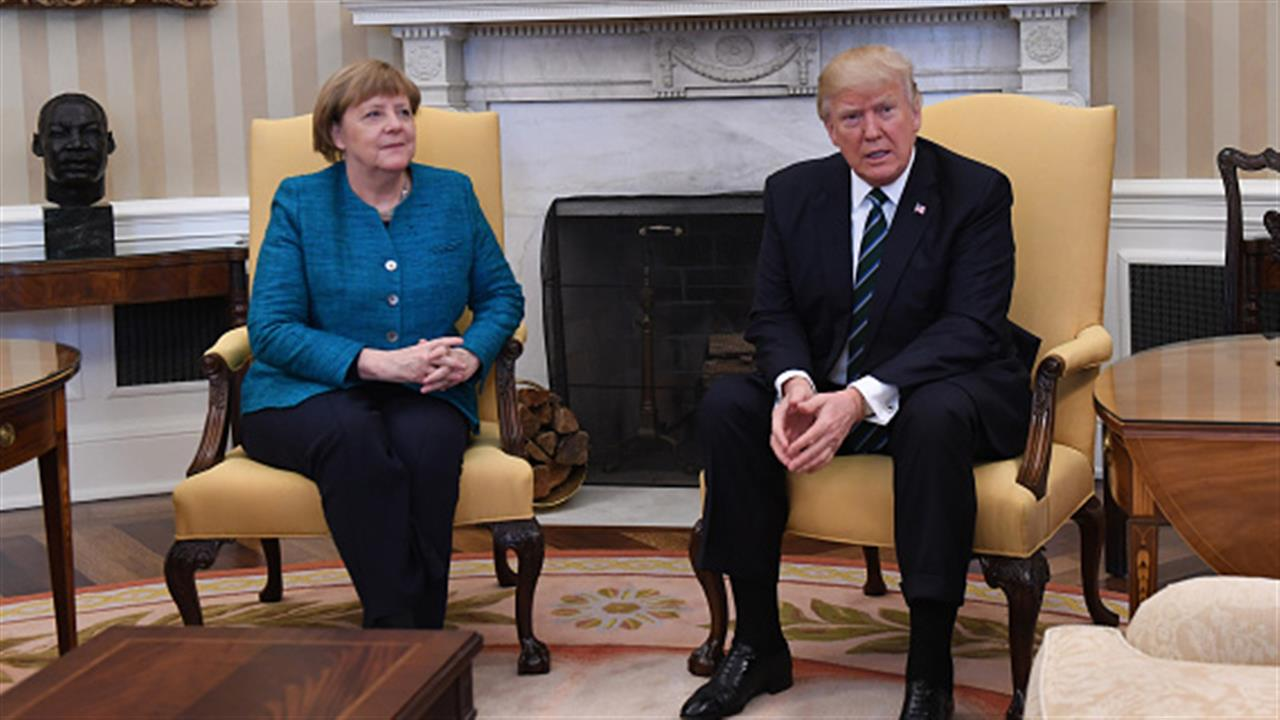 No Handshake at Trump-Merkel Photo-Op
