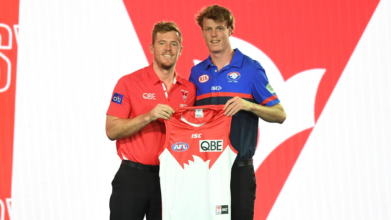 Luke Parker welcomed Nick Blakey to the Sydney Swans.