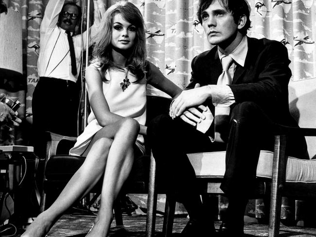 Jean Shrimpton With Boyfriend Terence Stamp During Their Time In Melbourne 1965