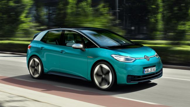 The Volkswagen ID.3 won't arrive in Australia until at 2022 at the earliest.
