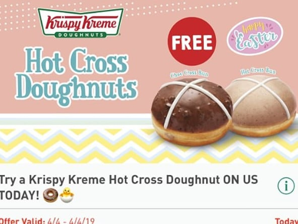 Aussies can grab a free Krispy Kreme doughnut, courtesy of 7-Eleven, today only.