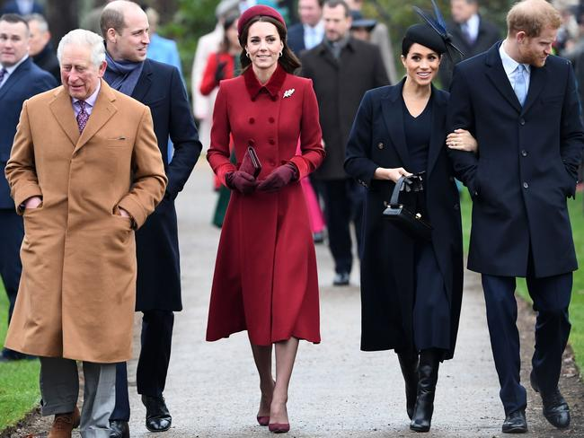 Despite multiple public appearances alongside his family, rumours of a rift between the Sussexes and other members of the royal family swirled long before the couple announced they'd be stepping back. Picture: Paul Ellis/AFP.