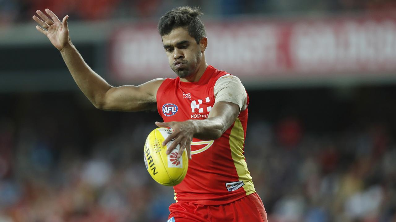 Jack Martin was dropped late in the season and therefore didn't reach 100 games at Gold Coast. (AAP Image/Regi Varghese)