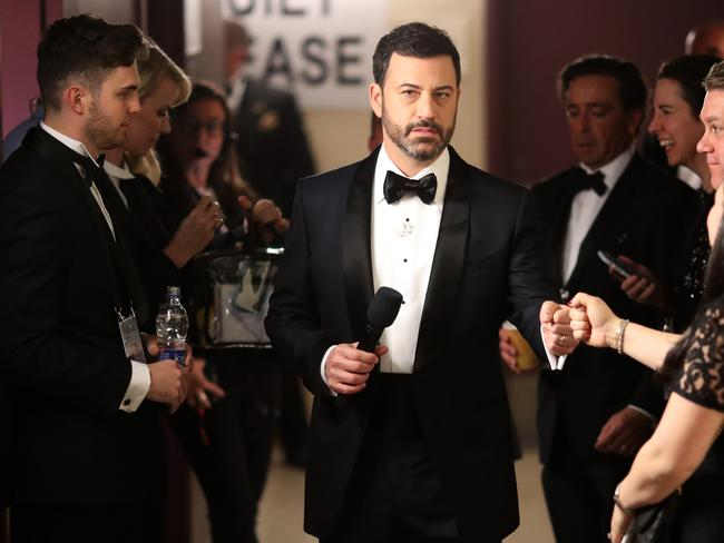 Jimmy Kimmel backstage during Annual Academy Awards ceremony. Picture: Getty