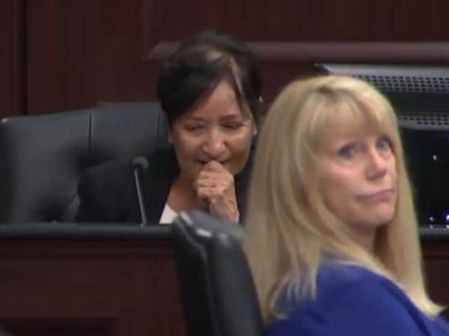 Forensic pathologist and Jacksonville Chief Medical Examiner Dr Valerie Rao after asking the court for a five-minute break during graphic evidence.