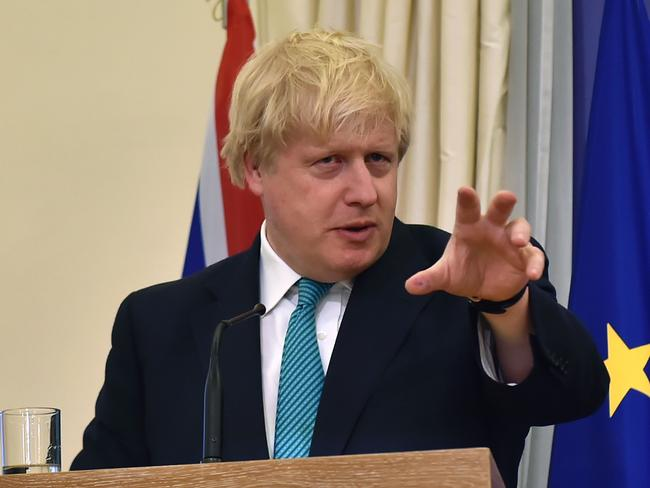 British Foreign Secretary Boris Johnson said no-one can be complacent on North Korea. Picture: AFP/Louisa Gouliamaki
