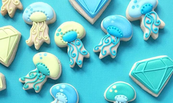 Cookies for an 'under the sea' party?  <i> Source: Holly Fox Designs </i>