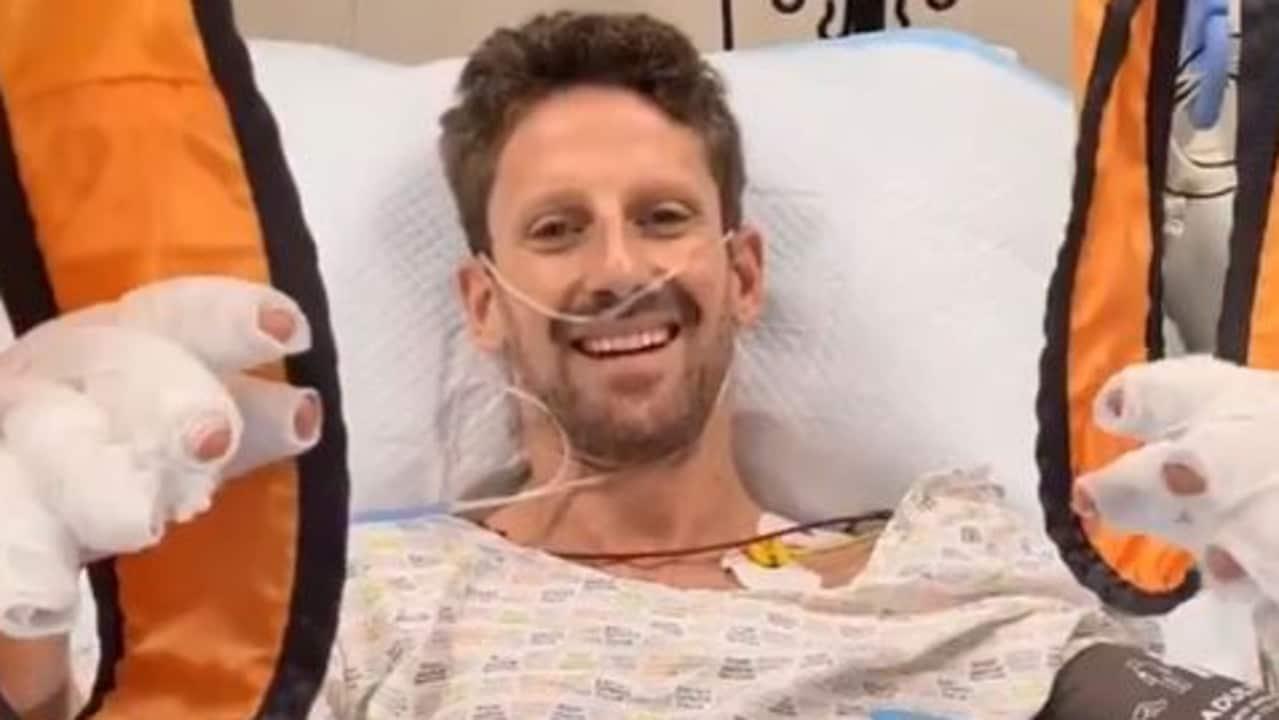 Romain Grosjean spoke from hospital.