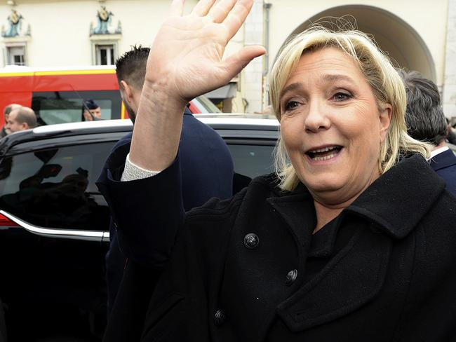 Marine Le Pen has wanted to take France out of the European Union for years. Picture: AP Photo/Christian Alminana.